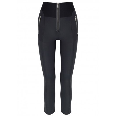 HIGH Girl's Clothing Minimalist navy stretch-jersey leggings Cycling Discount SC425880