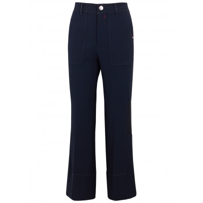 HIGH Pants Hype Up navy cropped flared trousers SC435813