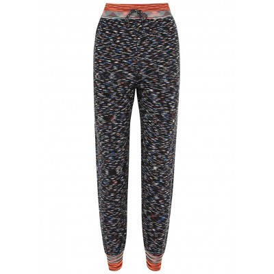 M Missoni Women's Clothing Space-dyed wool-blend sweatpants Drawstring For Sale SC426244