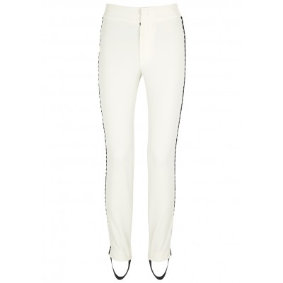 Moncler Girl's Clothing White striped twill trousers SC298528