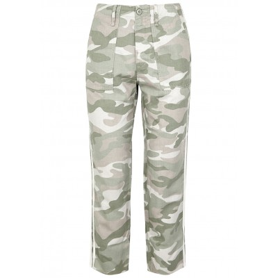 Mother Women's Shaker camouflage cotton-blend trousers Drawstring SC348845