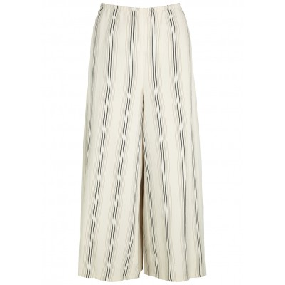 Vince Women Clothing Ivory striped wide-leg culottes SC437771