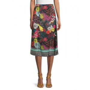 Alice + Olivia by Stacey Bendet Women's Athena Floral Skirt RETRO FLORAL MULTI Online Shopping ABESLXQ
