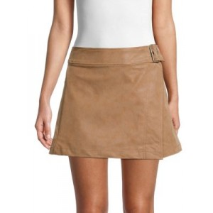 Free People Girl's Tops Ari Faux Leather Wrap Skirt CAMEL Wholesale BBSXALS