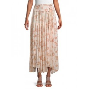 Free People Women Floral-Print Maxi Skirt PINK New Look SGFAZGY