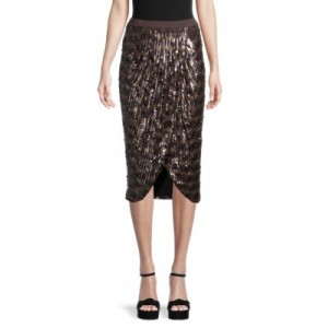 Le Superbe Girl's Outwear Take It Easy Sequin Wrap Skirt BROWN Online DSWXUNJ