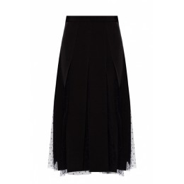 Red Valentino Women Tulle-trimmed pleated skirt  QWIJGUT