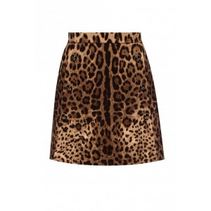 Women's Clothing Leopard print skirt Golf COWSMAM
