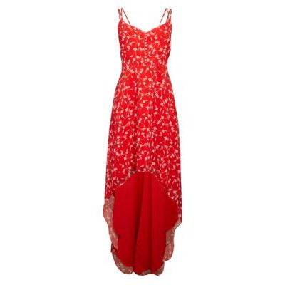 Alexia Admor Girl's Floral High-Low Maxi Dress RED DITZY Best