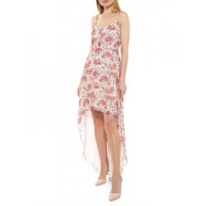 Alexia Admor Women's Floral High-Low Maxi Dress PINK WATER Boutique