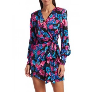Andamane Women's Carly Side-Bow Floral Wrap Dress Plus Size The Best