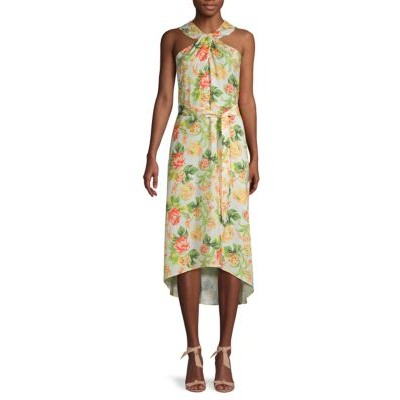 AVA & AIDEN Floral High-Low Dress CREAM FLORAL Petite High Quality