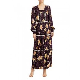 byTiMo Women's Bell-Sleeve Floral Maxi Dress PETUNA Petite Unique
