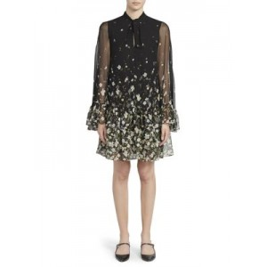 Erdem Tops Concette Daffodil Ditsy Print Mini Dress BLACK WHITE Casual