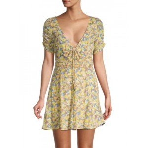 Free People Girl's Forget-Me-Not Floral Dress LILY COMBO