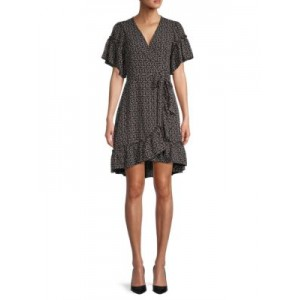 Max Studio Girl's Clothing Ditsy Floral Wrap Dress Black Friday