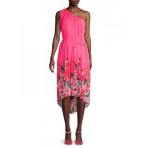 Ted Baker London Women Tops Pinata One-Shoulder Dress BRIGHT PINK Casual Classic Fit