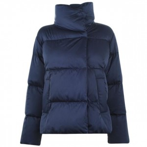 Max Mara Weekend Women Clothing Sesia Quilted Coat 022 Navy IDWFPHG