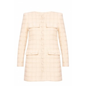 Saint Laurent Women's Tweed blazer Size XXL Unique WYDXSEO