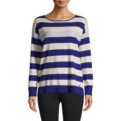 7 For All Mankind Girl's Tops Striped Sweater BLUE Black Friday KQWBJDB