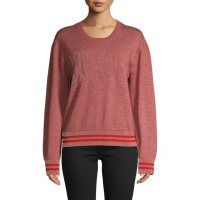 AG Jeans Women's Reflective Wool-Blend Pullover Sweater RED Size L Sale Online YACIRTR