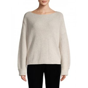 French Connection Women Outwear Ribbed Cotton Sweater LIGHT GREY XS 2021 GAYEHSY