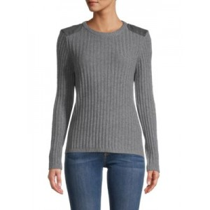Minnie Rose Girl's Cashmere & Cotton-Blend Sweater GREY For Sale IAGQQZY