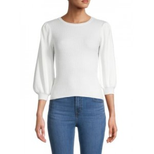 True Religion Women Puffed-Sleeve Wool-Blend Sweater WINTER WHITE UFFLSJK