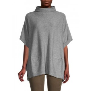 True Religion Women's Outwear High Neck Poncho Sweater GREY 3xl New Look LBQMNUT