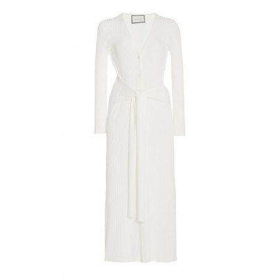 Alexis Women's Caitlyn Belted Ribbed-Knit Midi Dress White For Sale