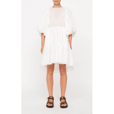 Sea Women's Tops Bailey Broomstick Tiered Cotton Dress White