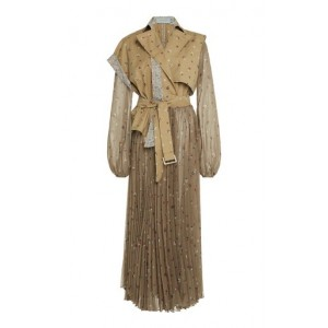 Silvia Tcherassi Women Tops Laurie Trench-Detailed Printed Chiffon Dress Floral Summer Sale