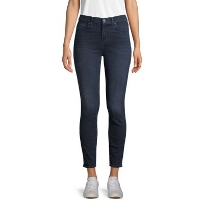 7 For All Mankind Clothing Gwenevere High-Waist Ankle Skinny Jeans BLUE SANTIAGO 27 inch leg Everyday JIOYTFC