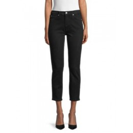 7 For All Mankind Girl's High-Rise Cropped Skinny Jeans BLACK MARBLE 28 inch waist QNILNTA