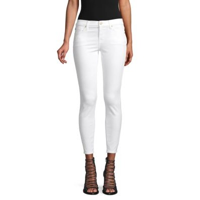 7 For All Mankind Girl's Pants Gwenevere Ankle Jeans WHITE Size 28 Brand OFMNQFL