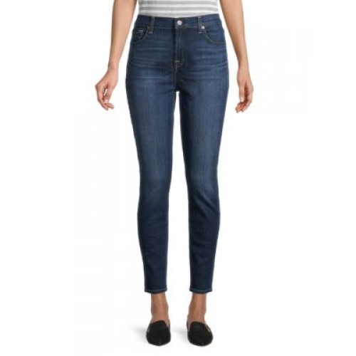 7 For All Mankind Girl's Pants Gwenevere High-Rise Ankle Skinny Jeans PARIS 3 Quarter Designer GHOPOEL