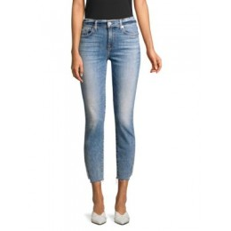 7 For All Mankind Women's Pants Skinny Ankle Slit Jeans SLOAN VINTAGE Size 27 New Look EZWMVXH