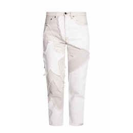 Acne Studios Women Pants Jeans with patches Size 32 High Quality EYHDJRZ
