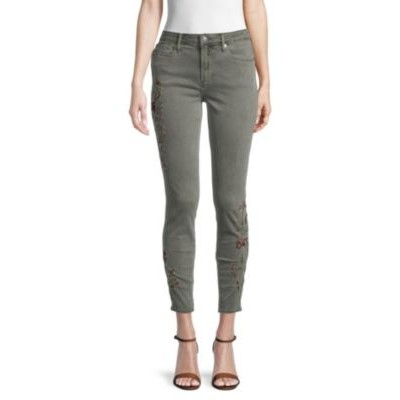 Driftwood Girl's Jackie Skinny-Fit Embroidered Jeans OLIVE High End OLTDILH