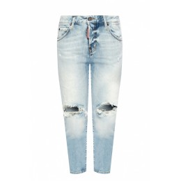 Dsquared2 Women 'Cool Girl Cropped Jean' raw edge jeans 29 inch UELRPGA
