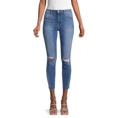 Frame Girl's Pants Le High Skinny Cropped Jeans BLUE Best ASXTLWX