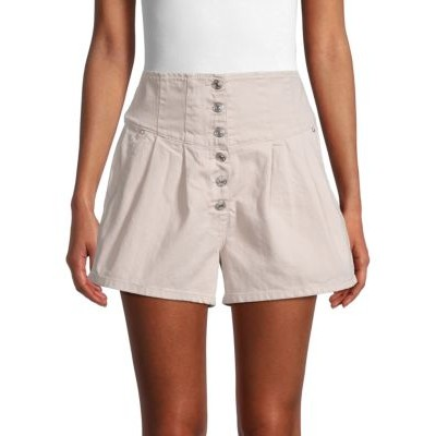 Free People Clothing Paris Pleated Shorts MACAROON 27 inch leg Trends RDCHTZM