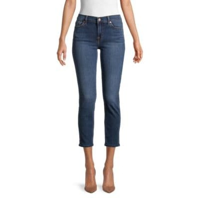 7 For All Mankind Girl's Pants Roxanne Cropped Skinny Jeans LONDON DUSK Size 30 High Quality LEKDGOG