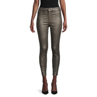 7 For All Mankind Pants High-Rise Leopard-Print Ankle Skinny Jeans MICRO LEOPARD EJQHNRK