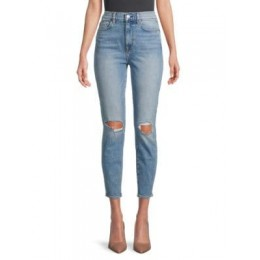7 For All Mankind Pants The High-Waist Ankle Skinny Jeans BLUE Stretch Sale AZJPXFX