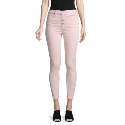 7 For All Mankind Women Gwenevere High-Waist Ankle Jeans PEONY PINK ASQJZXI