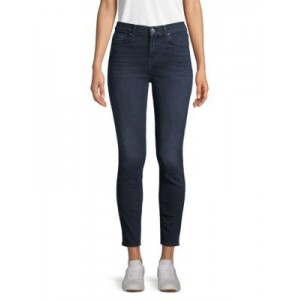 7 For All Mankind Women Pants Gwenevere High-Waist Ankle Skinny Jeans BLUE SANTIAGO Good Quality OXUDAJB