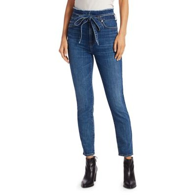7 For All Mankind Women Pants Roxanne Paperbag Ankle Skinny Jeans BAYBERRY Plus Size 2021 YPALCLZ