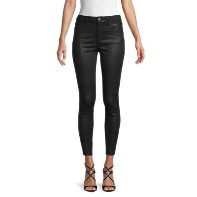 BCBGeneration Women High-Rise Skinny Ankle Faux Leather Jeans  LKCBAAA