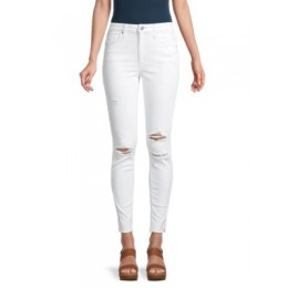 Joe's Jeans Women Clothing High-Rise Ripped Skinny Ankle Jeans WHITE Trends ADLTWAB